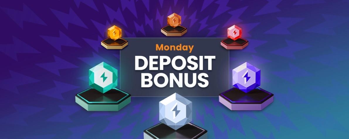 Faites un dépôt le lundi et gagnez un bonus Mega Match Mondays sur Cloudbet