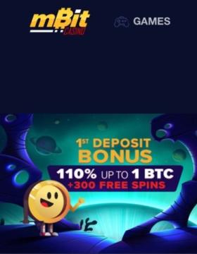MBit casino offers 500 Free Spins and up to 5 BTC Bonus