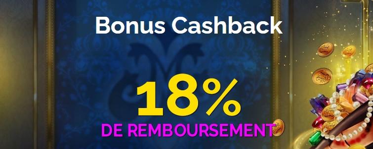 Gagnez un Cashback de 18% chaque semaine sur MonteCryptos Casino