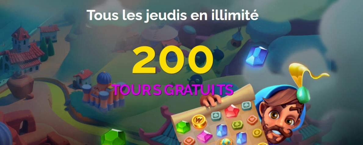 Recevez 200 tours gratuits sur Montecryptos Casino tous les jeudis