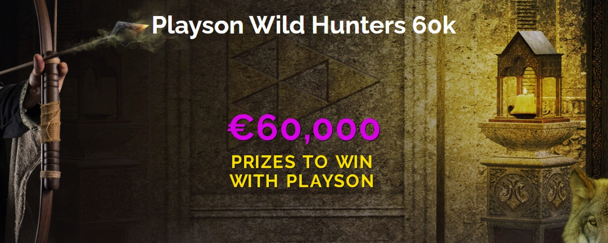 Participez au tournoi Playson Wild Hunters 60K sur Montecryptos Casino